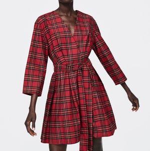 NWT, ZARA Plaid Dress